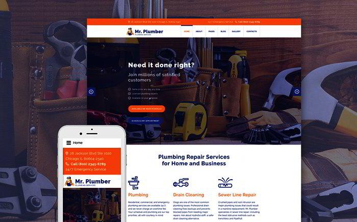 Plumber Services Joomla Template