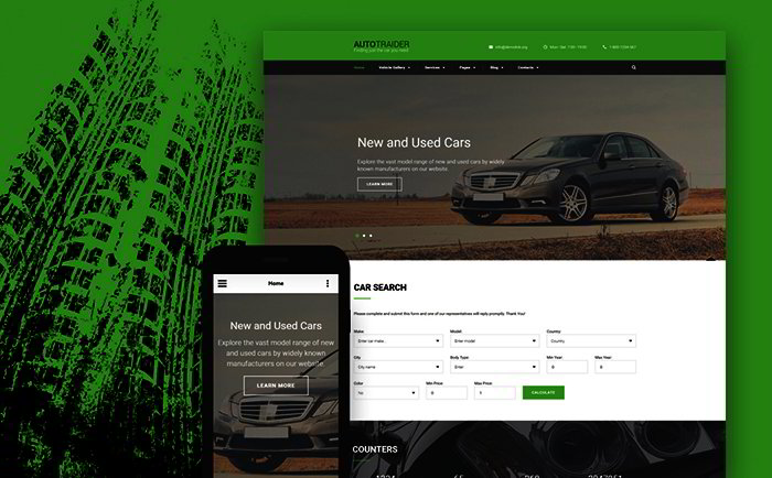 Car Trader Bootstrap Template