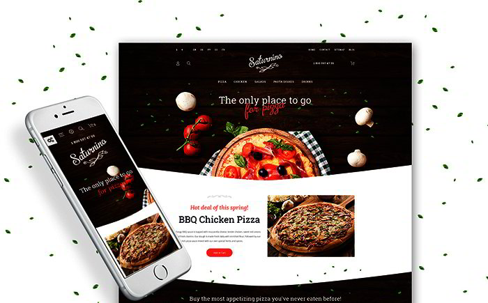 Pizza PrestaShop Theme