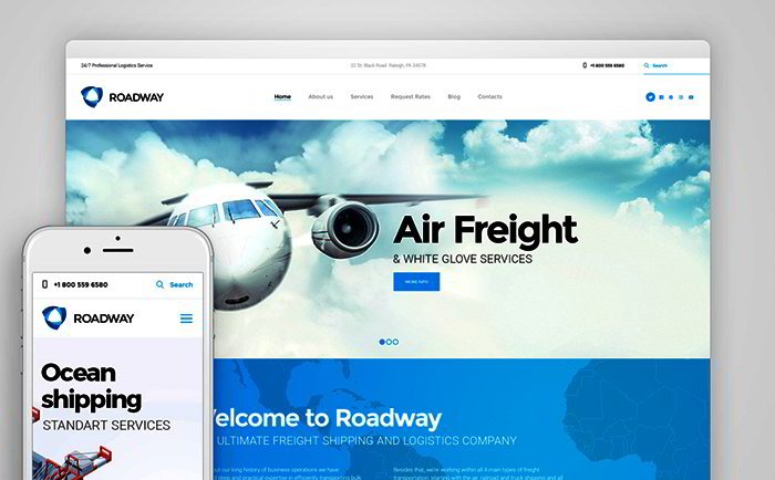 Logistics & Transportation Services WordPress Theme