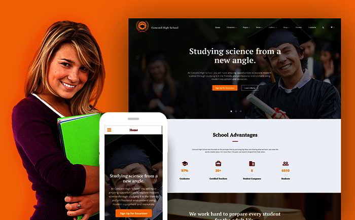 Education Programs Site Template