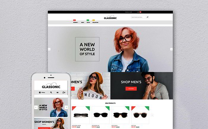 Designer Glasses Magento Theme