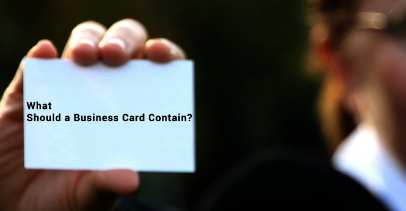 What Should A Business Card Contain Templates