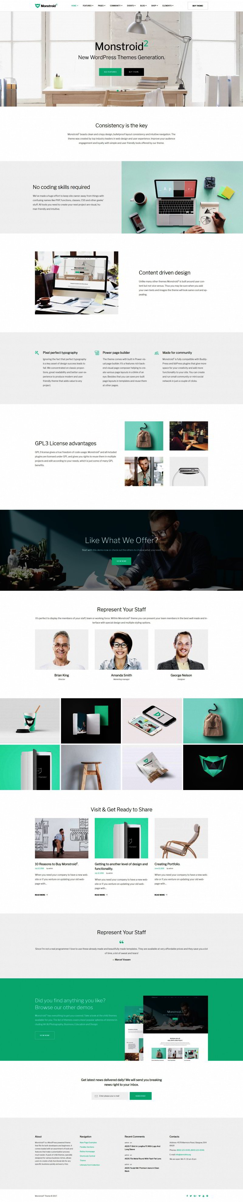Monstroid2 - Multipurpose WordPress Theme