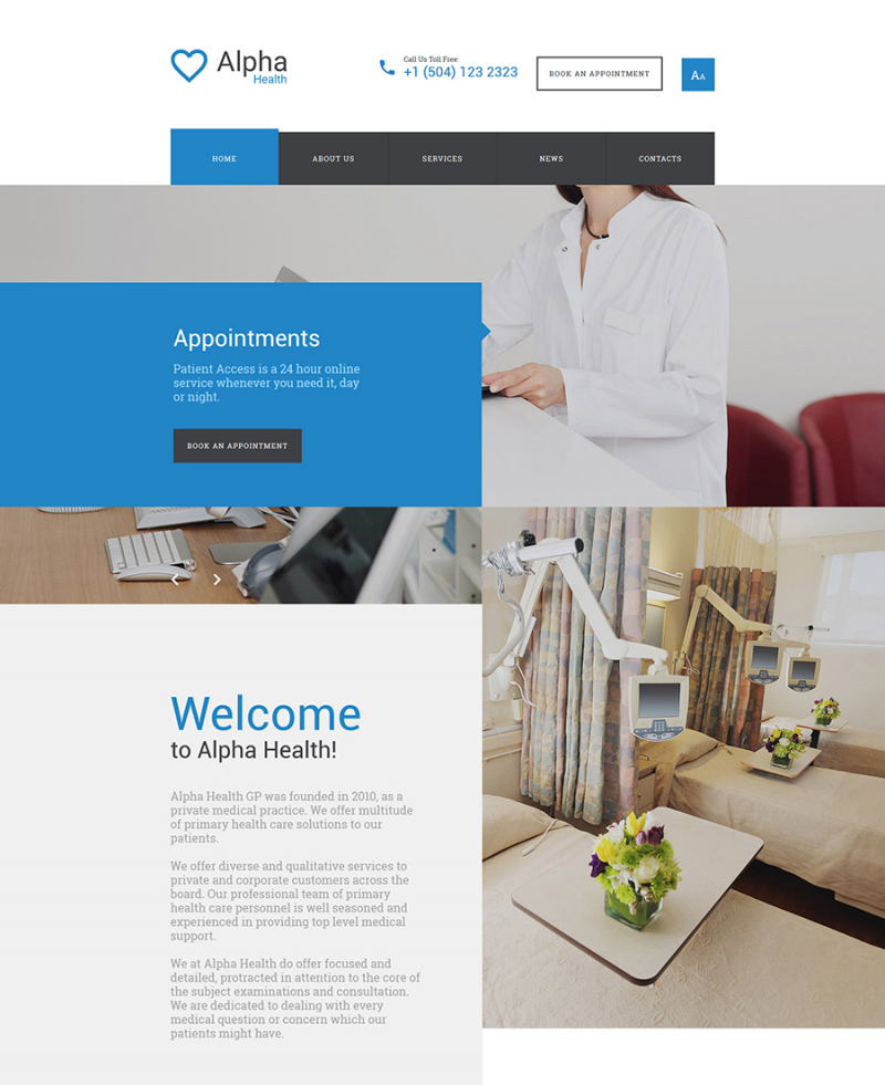 Alpha Health - Counseling Responsive Website Template