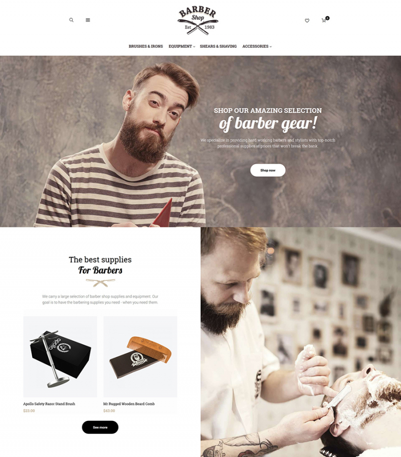 BarberShop - Barber Equipment Responsive Magento Theme